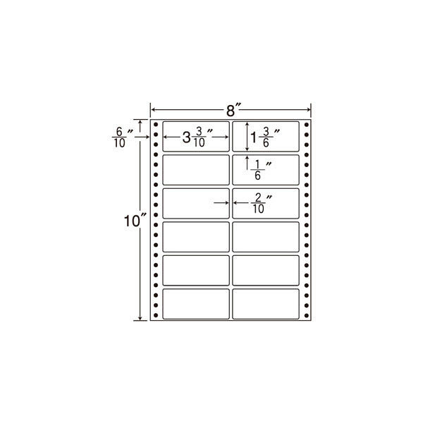 東洋印刷 タックフォームラベル MT8C 1箱(500シート入) (直送品)