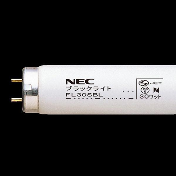 NEC ブラックライト 直管スタータ形 30W FL30SBL 25本入 (取寄品)