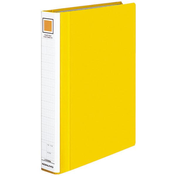 チューブファイル エコツインR A4タテ とじ厚30mm 黄 10冊 コクヨ 両開きパイプ式ファイル フ-RT630Y