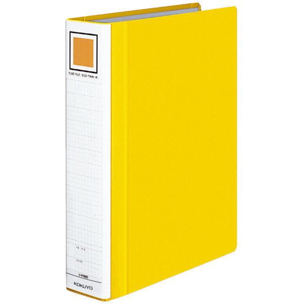 チューブファイル エコツインR A4タテ とじ厚50mm 黄 10冊 コクヨ 両開きパイプ式ファイル フ-RT650Y