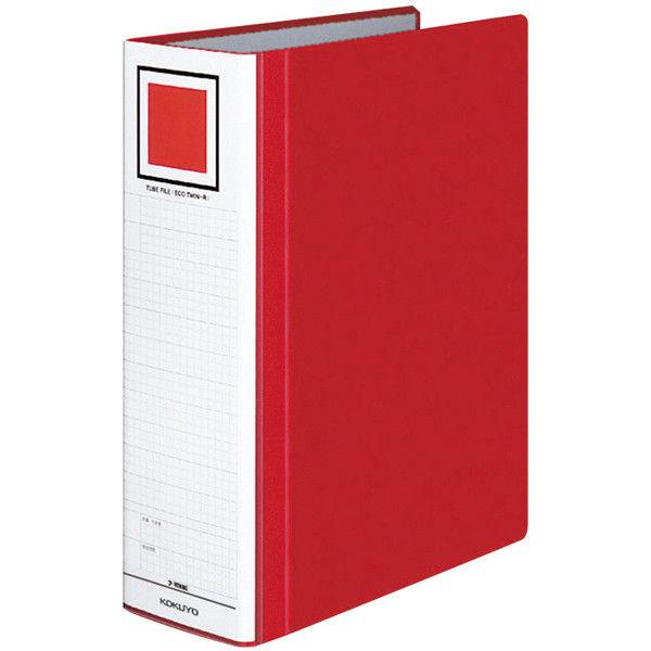 チューブファイル エコツインR A4タテ とじ厚80mm 赤 10冊 コクヨ 両開きパイプ式ファイル フ-RT680R