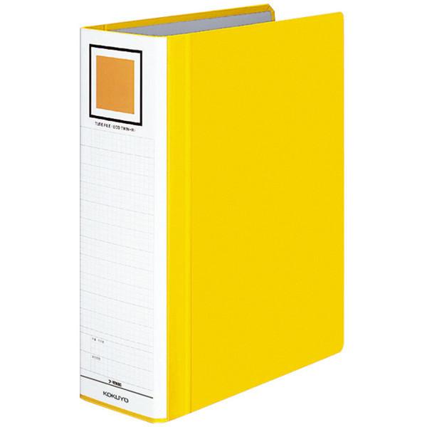 チューブファイル エコツインR A4タテ とじ厚80mm 黄 10冊 コクヨ 両開きパイプ式ファイル フ-RT680Y