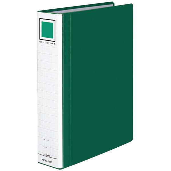 コクヨ チューブファイルエコツインR A4タテ 緑 フ-RT650G 1箱(10冊入)