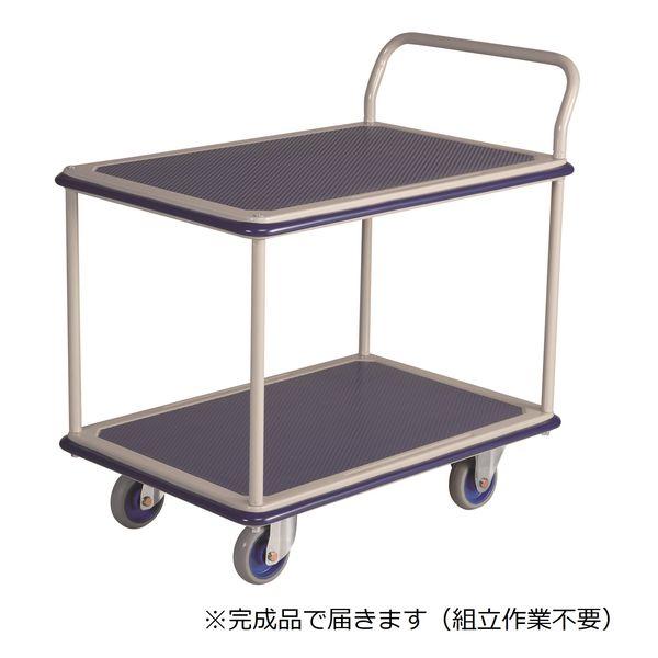 金沢車輌【車上渡し】 スチール2段台車 300kg荷重 NHT-304 1台 (直送品)