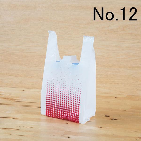 レジ袋 レッド No.12 100枚