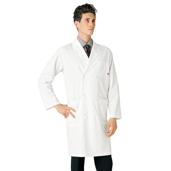 ルコックスポルティフ メンズダブル診察衣 ホワイト LL QNM4011(UQM4011) (直送品)