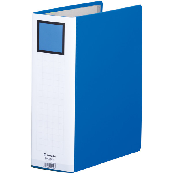 キングファイルG GXシリーズ A4タテ とじ厚80mm背幅96mm 青 キングジム 片開きパイプファイル 978GXアオ 3冊