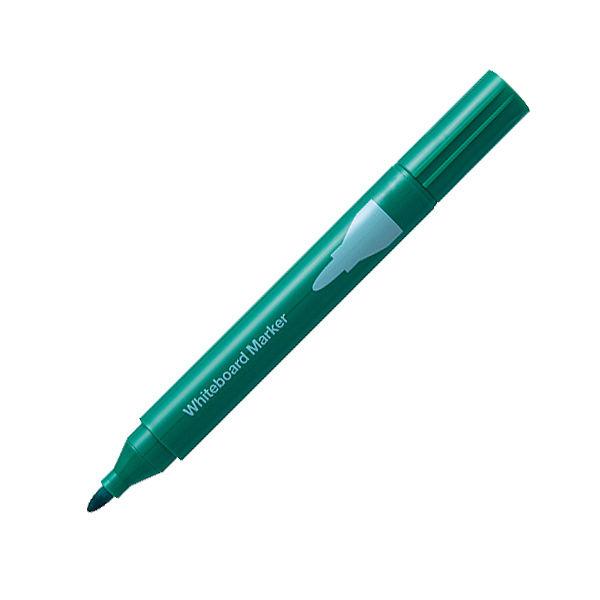 ホワイトボードマーカー中字丸芯 緑12本