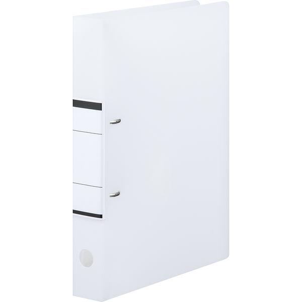 アスクル リングファイル A4タテ D型2穴 背幅41mm クリアホワイト 白 50冊 ユーロスタイル