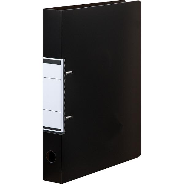 アスクル リングファイル A4タテ D型2穴 背幅41mm クリアブラック 黒 50冊 ユーロスタイル