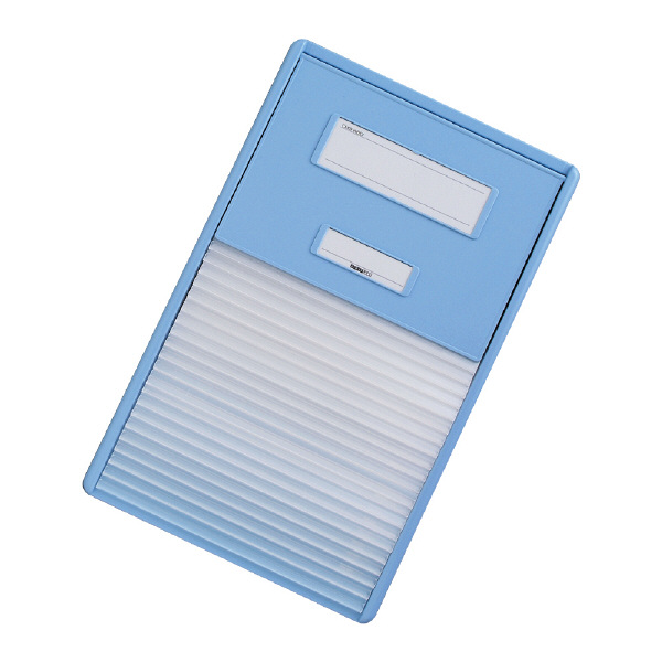 リヒトラブ カードインデックス(カーデックス) A4 ポケット数/21 ブルー HC112C-2 (直送品)