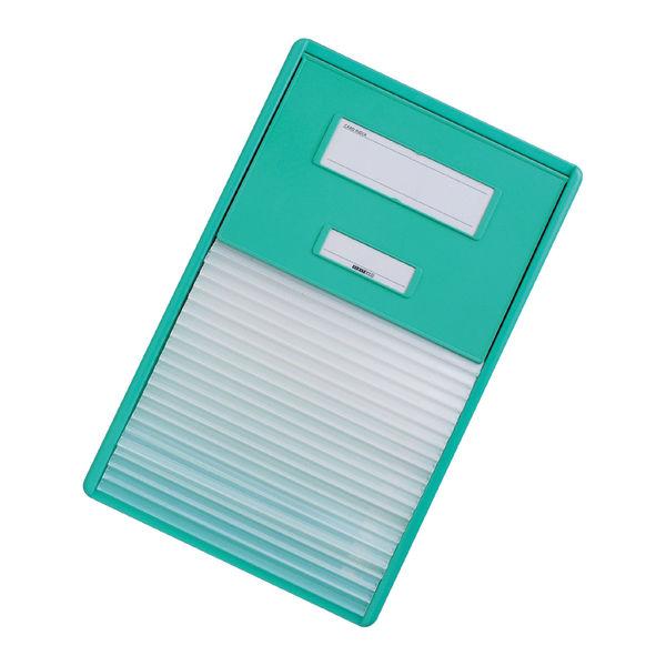リヒトラブ カードインデックス(カーデックス) A4 ポケット数/21 グリーン HC112C-3 (直送品)