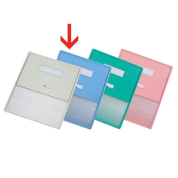 リヒトラブ カードインデックス(カーデックス) A3 ポケット数/16 ブルー HC114C-2 (直送品)