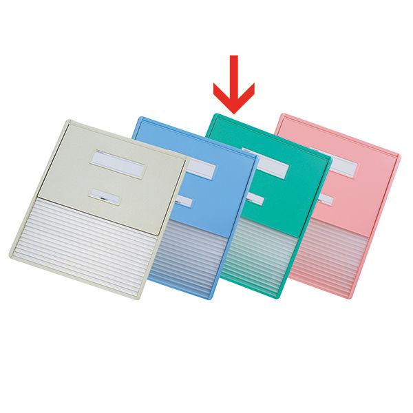 リヒトラブ カードインデックス(カーデックス) A3 ポケット数/16 グリーン HC114C-3 (直送品)