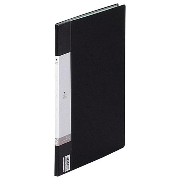 リヒトラブ クリヤーブック A4タテ 10ポケット 黒 G3200-24 1箱(10冊入)