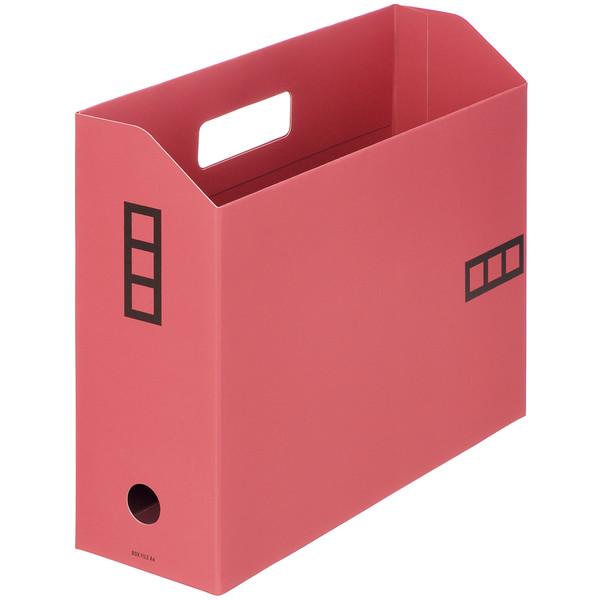【アウトレット】アスクル ボックスファイルシブイロ A4 ローズ 1箱(100冊入)