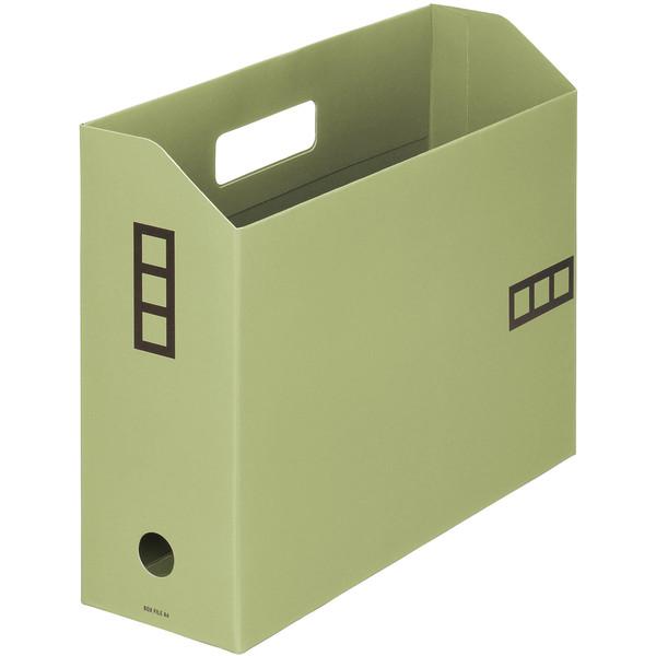 【アウトレット】アスクル ボックスファイルシブイロ A4 グリーン 1箱(100冊入)