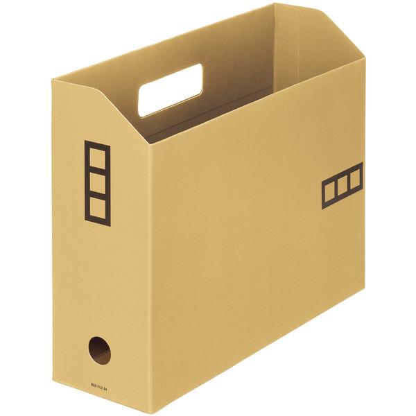 【アウトレット】アスクル ボックスファイルシブイロ A4 ベージュ 1箱(100冊入)