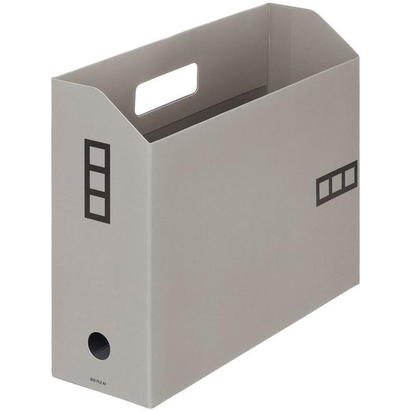 【アウトレット】アスクル ボックスファイルシブイロ A4 グレー 1箱(100冊入)