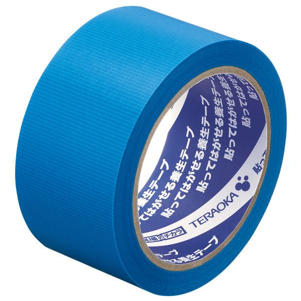 寺岡製作所「現場のチカラ」 貼ってはがせる養生テープ 1901 青 幅50mm×25m巻 1箱(30巻:5巻入×6パック)