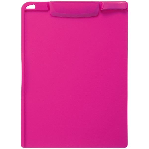 クリップボード A4タテ 10枚 ピンク バインダー アスクル
