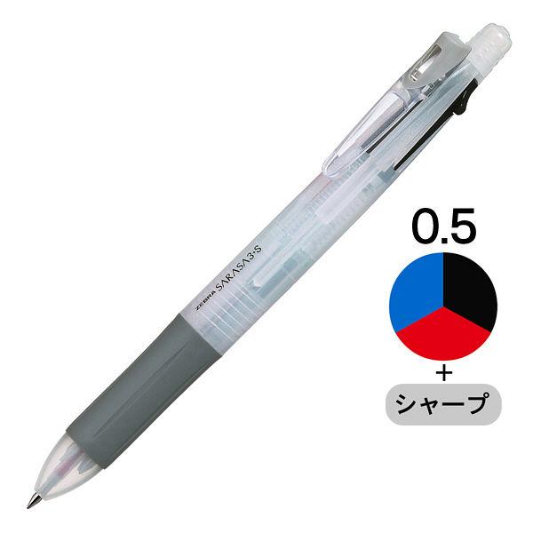 ゼブラ サラサ3+S(4機能ペン) 白軸 SJ3-W 1セット(5本:1本×5)