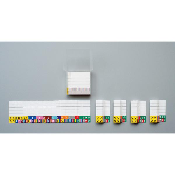 日本ホップス カラーIDナンバーカード(連番収納)「00」~「99」 IDC-CL7 1箱(500枚入)