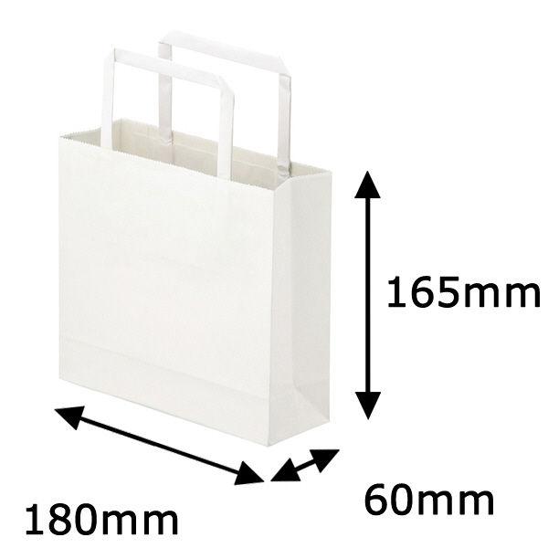 平紐 手提げ紙袋 白 3S 300枚