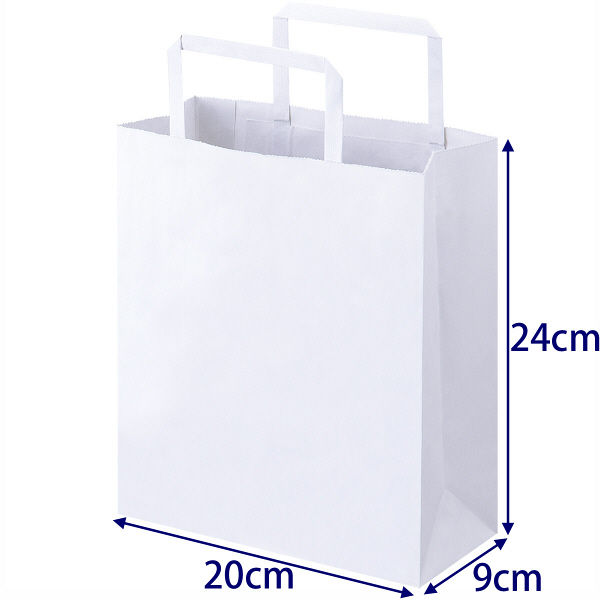 平紐 手提げ紙袋 白 SS 900枚