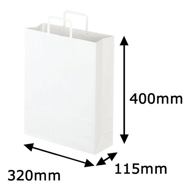 平紐 手提げ紙袋 白 L 300枚