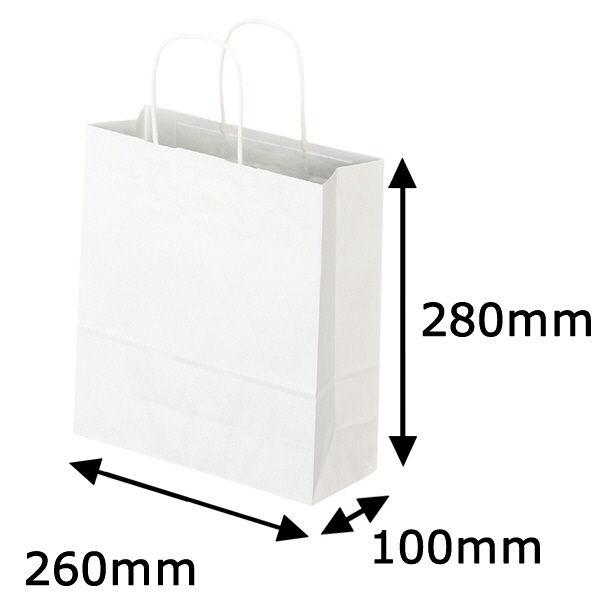 丸紐 手提げ紙袋 白 S 300枚
