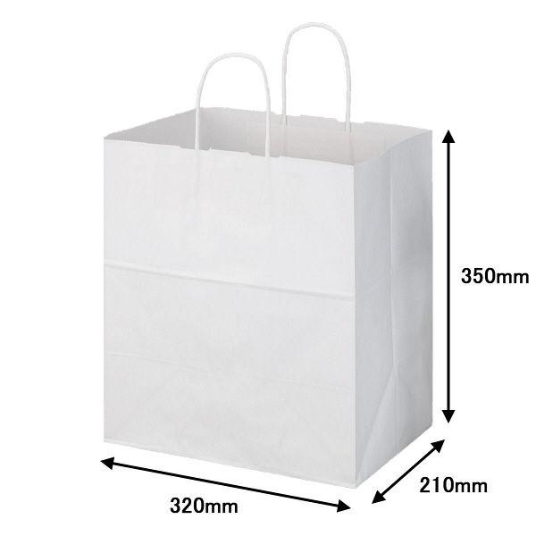 丸紐 手提げ紙袋 白 M 300枚