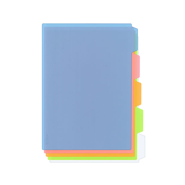 プラス カラーインデックスシート 5色 FL-103CH 1箱(100枚入:5枚入×20袋) (直送品)