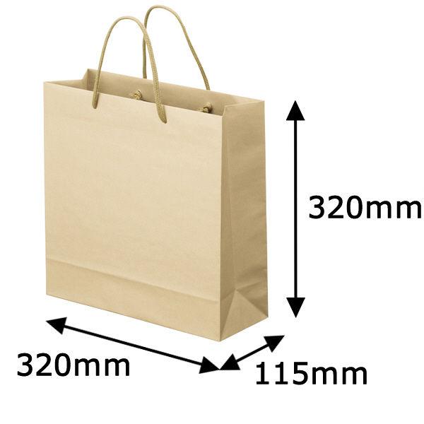 丸紐 手提げ紙袋 ベージュ M 100枚
