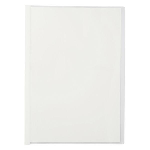 アスクル レール式クリアーホルダー A4タテ 30枚とじ ホワイト 240冊