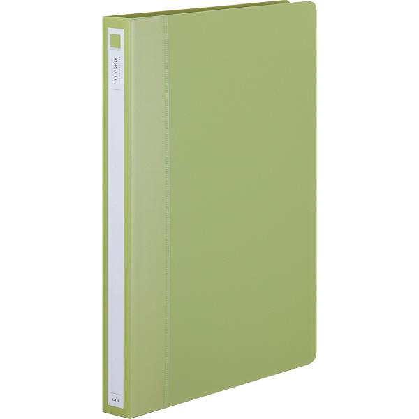 アスクル リングファイル丸型2穴 A4タテ 背幅27mm グリーン 60冊