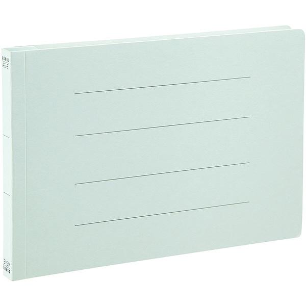 アスクル フラットファイル A5ヨコ ブルー エコノミータイプ 30冊