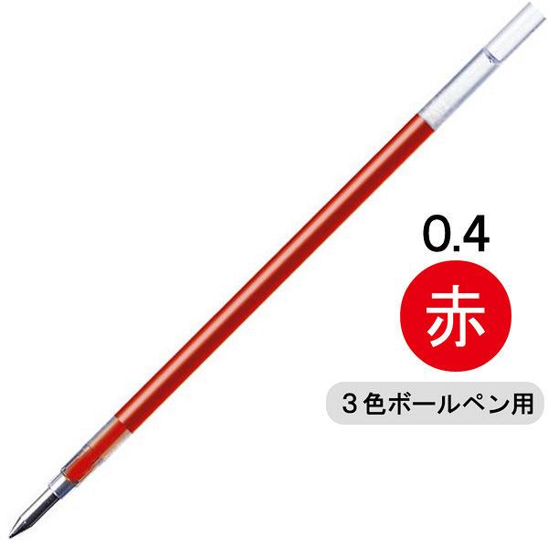 ゼブラ ゲルインクボールペン替芯 JK-0.4芯 ゲルインク 0.4mm 赤インク RJK4-R