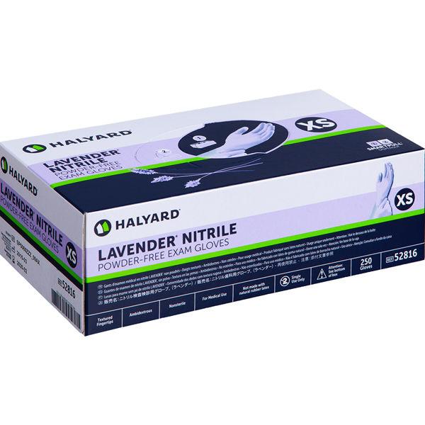 ハリヤード・ヘルスケア・インク ラベンダーニトリル検査用グローブ XS 52816 1箱(250枚入)