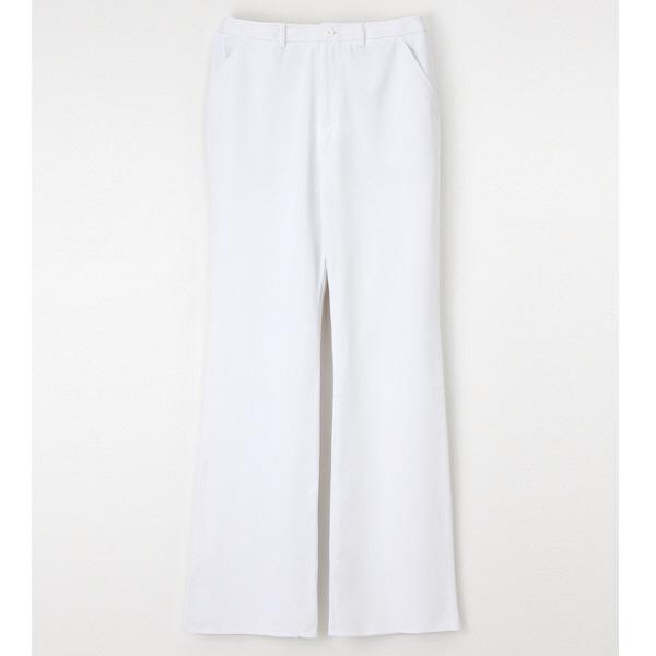 ナガイレーベン ブーツカットパンツ ナースパンツ 医療白衣 女性用 ホワイト S CD-2818 (取寄品)