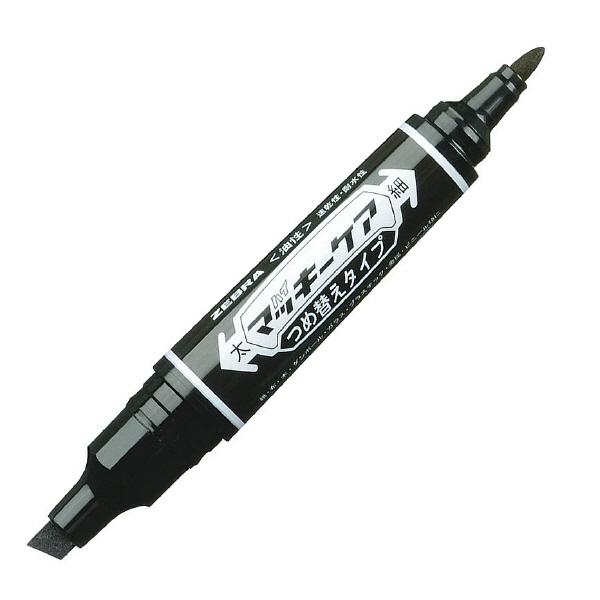 ハイマッキーケア 詰め替えタイプ本体 太字/細字 黒 5本 油性ペン ゼブラ