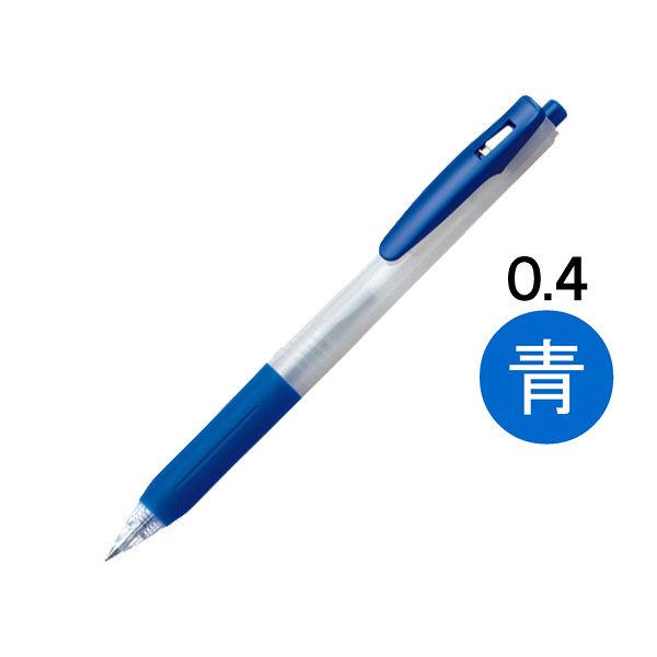 ノック式ゲルボールペン0.4 青 10本