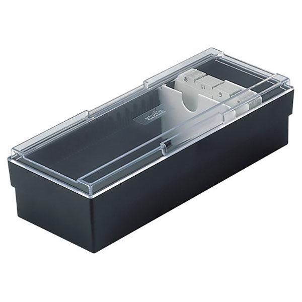 セキセイ 名刺ボックス ブラック CB-700 1セット(3個:1個×3)