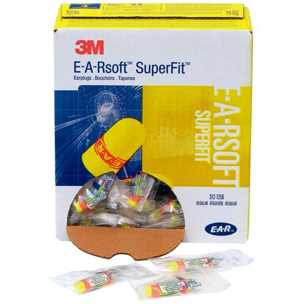 スリーエム ジャパン E-A-Rsoftスーパーフィット耳栓ひもなし 黄 312-1256 1箱(200組:1組入×200袋)