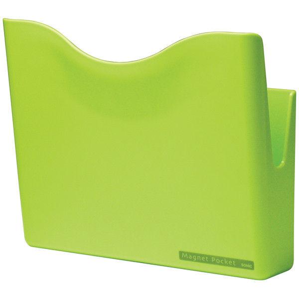 ソニック マグネットポケット A4 緑 MP-447-G 1セット(3個:1個×3)