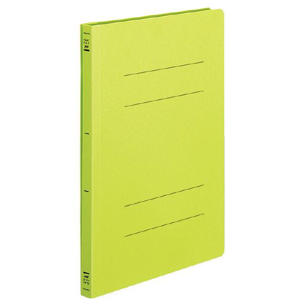 コクヨ フラットファイルPP製 A4タテ 背幅20mm 黄緑 1箱(30冊:3冊入×10袋) フ-H10-3YG