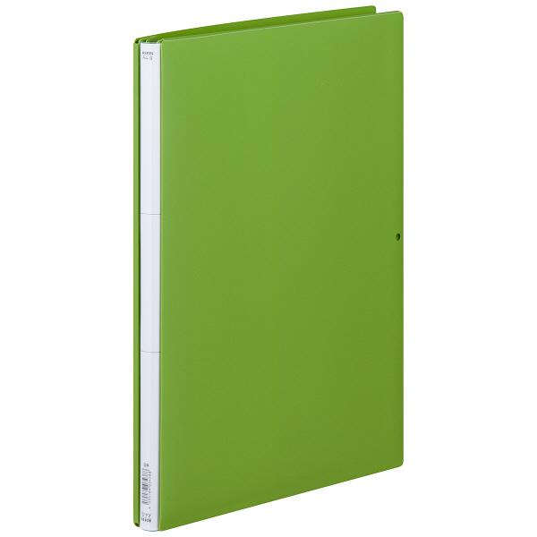 背幅伸縮ファイル PP製 A4タテ 10冊 グリーン アスクル