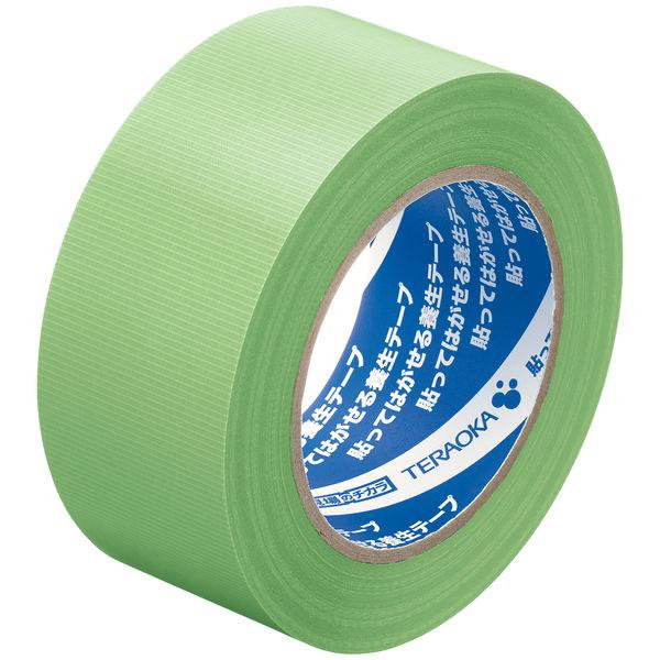 寺岡製作所「現場のチカラ」 貼ってはがせる養生テープ 1901 若葉色 幅50mm×50m巻 1セット(5巻:1巻×5)