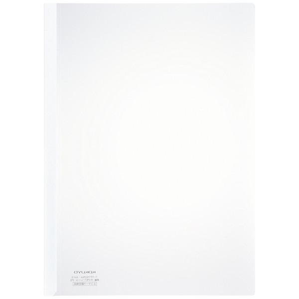 コクヨ レールクリヤーホルダー(PET) A4タテ 白 フ-TP760NW×5 1セット(20冊:5冊入×4袋)