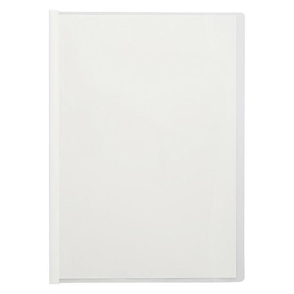 アスクル レール式クリアーホルダー A4タテ 10枚とじ ホワイト 120冊